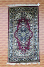 Afghan Silk 3x5 Oriental Area Rug Carpet Hand Knotted Red Colour Living Room