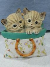 Lenox A Tote for Two 2005 Kitty Cats Purse Figurine Resin Feline
