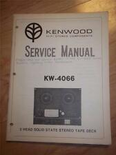 Kenwood Service Manual~KW-4066 Reel Tape Deck~Original Repair
