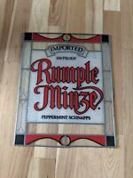 Rare Rumple Minze Schnapps Stained Glass Bar Beer Sign Advertising Liqour