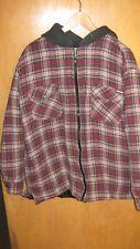 Craftsman Men's Hoodie Jacket Plaid Flannel Lined Coat Size Large