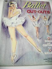 Vtg Paper Dolls 1964 Ballet Whitman Folder art Neva Schultz Nr Mint Rare Uncut!
