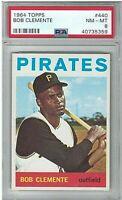 "1964 Topps Bob ""Roberto"" Clemente #440 PSA 8 Pittsburgh Pirates HOF"