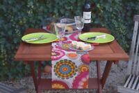 Tischläufer Baumwolle Provence 20x105 cm pink türkis Tischband aus Frankreich