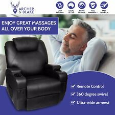 New Electric Massage Recliner Heated Chair Back Body Swivel Lounge Sofa Massager