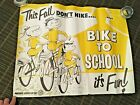 VINTAGE 1960'S BIKE POSTER MARKED BWDA BICYCLE WHOLESALE DISTRIBUTORS ASSOC