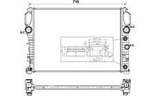 NRF Radiador, refrigeración del motor MERCEDES-BENZ CLASE E CLS 53423
