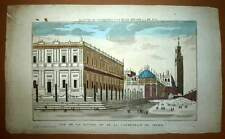 Vue d'optique ARCHIVES GENERALES DES INDES et CATHEDRALE DE SEVILLE gravure