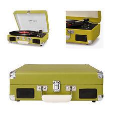 Giradischi vintage retro' portatile a valigetta Crosley Cruiser Deluxe Verde