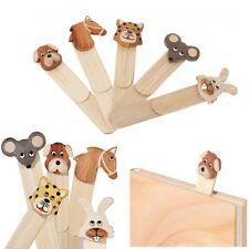 Un marque-page en bois animal - Signet chien, cheval, tigre, chat, souris, lapin