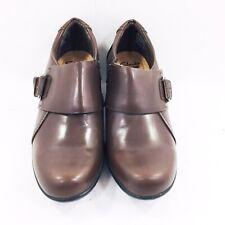Clarks Genette Vista Brown Leather Bootie Shoes Womens Size 8 Medium NWOB