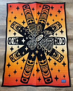 "Pendleton Beaver State Baby Blanket Shawl 32""x44"" Sunburst Raven"
