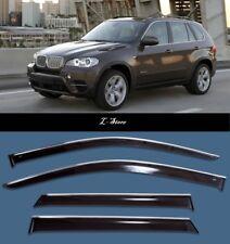 Chrome Trim Side Window Visors Guard Vent Deflectors For BMW X5 E70 2007-2013