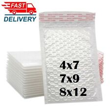 1 200pcs 3 Sizes White Color Self Seal Poly Padded Bubble Mailers Envelopes