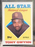 1988 Topps ALL STAR NATIONAL LEAGUE Tony Gwynn Card #402