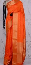 Indian Saree blended Tussar Silk Dusty red Saree with Blouse pic( Rasham rhread