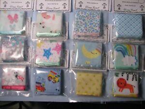 "Dollhouse Miniature Wholesale Lot of 12 Small Print Blankets 6"" x 8"""