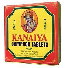 Camphor Tablets from India - 200 grams - 64 tablets (16 blocks of 4) - Kanaiya B