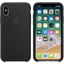 Apple iPhone X Silicon Case Ultra Slim Great Handling Original Cover - Black