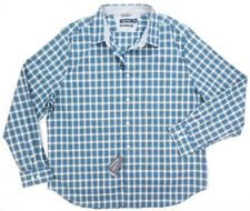 NEW NAUTICA ENSIGN BLUE MICRO PLAID CLASSIC FIT STRETCH BUTTON DOWN SHIRT 3XL