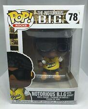 Funko Pop  Rocks #78 Biggie NOTORIOUS BIG with jersey *MINT*