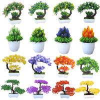Various Fake Artificial Plant Plastic Bonsai Flower Wedding Office Home De QSQ