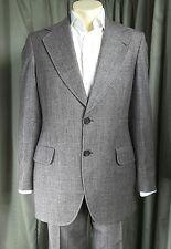 VINTAGE 70 s Bespoke John Lewis (Pingvin) Prince of Wales Check Suit C42 W34 L33