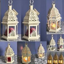 15 Moroccan Style Lantern Clear Glass White Candle Holder Wedding Centerpieces