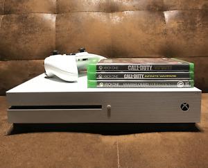 Console Microsoft Xbox One S 500 Go Blanche - avec 1 manette et 3 jeux