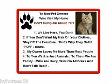 Funny Maine Coon Cat Rules Refrigerator Magnet
