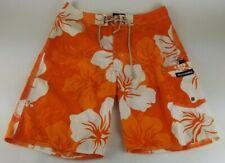 Abercrombie & Fitch Cargo Board Shorts Swim Trunks Sz 32 Orange Floral Hawaiian