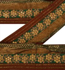 Antique Vintage Saree Border Hand Embroidered Craft Trims Lace