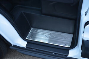 Brushed Chrome Door Sill Trim Covers Protectors To Fit Ford Transit (2014+)