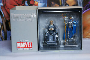 CLASSIC MARVEL FIGURINE COLLECTION DOUBLE SPECIAL  PROFESSOR X LILANDRA NO MAG