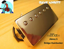 G.M. 59'er Alnico 5 Chrome Humbucker Bridge (52mm) (4-wire) for Gibson Epiphone®