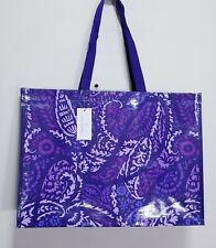 VERA Bradley in Paisley Amethyst reusable eco XL MARKET Tote shopping, Gift bag