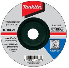 Makita D-18459 115mm 4.5in Metal Grinding Bore Flat Disc 22mm