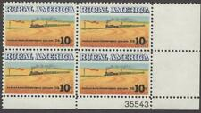Scott # 1506 - Us Plate Block Of 4 - Wheat Fields & Train - Mnh - 1973