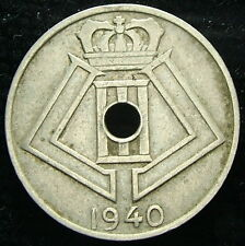 1940 Bélgica Belgie Belgique 5 centavos ctms