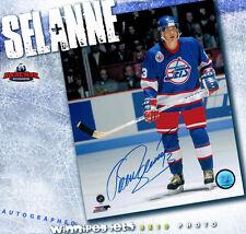 TEEMU SELANNE Winnipeg Jets Autographed 8x10 - 70229