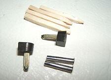 "2x 5/16"" 8mm 120-pin BLACK METAL STILETTO HIGH HEEL SHOE TOPS TIPS TUBE KIT PAIR"