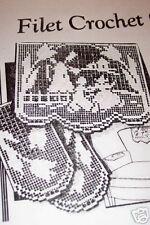 6060 Vintage Alice Brooks filet DUTCH  set Pattern to Crochet (Reproduction)