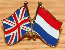 UK & NETHERLANDS Holland FRIENDSHIP Flag Metal Lapel Pin Badge Great Britain