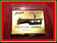 New Genuine Zenith 142-143 Phonograph Turntable Cartridge with Needle/Stylus