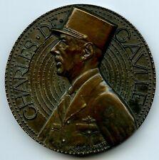 France 1940 General Charles De Gaulle Bronze Art Medal by Jaeger