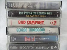 Lot 6 Classic 80s Rock Cassette Tapes Bad Company Tom Petty Meatloaf Thorogood