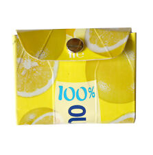 Reused carton wallet Italian juice purse lemon paper clutch yellow mini-bag gift