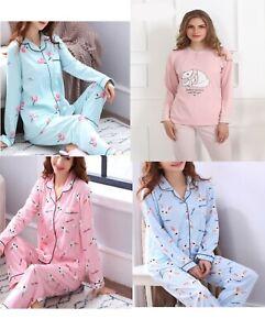 Ladies Women Pyjamas Set Night wear Lounge Wear Pajamas Pjs Sleep