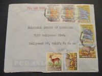 1955 Angola Portuguese Africa to Hollywood California USA Franking Airmail Cover