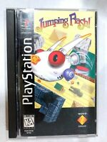 RARE! Jumping Flash Long Box SONY PLAYSTATION 1 PS1 Game COMPLETE CIB Tested
